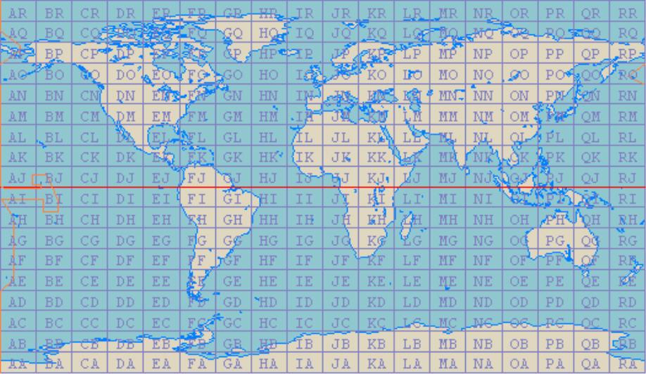 Grid square map amateur